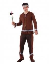 Indianer-Kostüm für Jugendliche Western-Kostüm braun