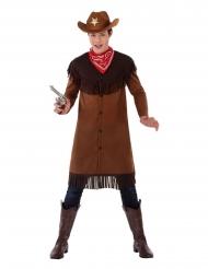 Cowboy-Kostüm für Teenager Fasching-Kostüm für Jugendliche braun-rot