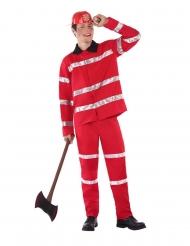 Heldenhaftes Feuerwehrmann-Kostüm für Jugendliche Teenager-Verkleidung rot