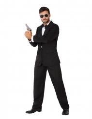 Geheimagenten-Kostüm für Herren Spion-Verkleidung schwarz-weiss