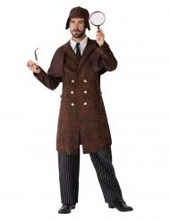 Detektiv-Herrenkostüm für Fasching braun