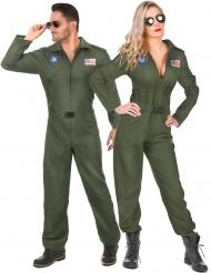 Piloten Paarkostüm für Erwachsene khaki