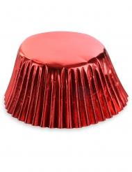 Glanzvolle Cupcake-Formen Backzubehör 50 Stück rot 7 cm