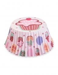 Cupcake-Formen Muffin-Backzubehör 50 Stück bunt 7 cm