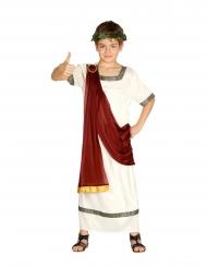 Römer-Kostüm für Jungen Toga für Fasching weiss-rot-goldfarben