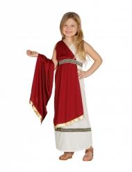 Römerin-Mädchenkostüm für Fasching weiss-rot-goldfarben