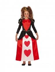 Herzkönigin-Mädchenkostüm für Fasching Märchen-Verkleidung rot-schwarz-weiss