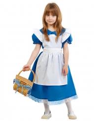 Märchen Wunderland-Kostüm für Märchen Faschings-Verkleidung blau-weiss