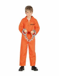 Gefangener-Kinderkostüm für Fasching Sträflings-Verkleidung orange