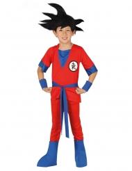 Manga-Kostüm Ninja-Verkleidung für Kinder Fasching rot-blau