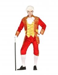Barock-Kostüm für Herren Faschings-Verkleidung orange-gelb