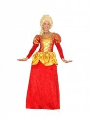 Barock-Kostüm für Damen Faschings-Kostüm rot-gelb