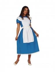Alice-Kostüm für Damen Faschings-Verkleidung blau-weiss