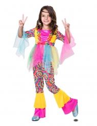 Fetziges Hippie-Kostüm für Kinder Faschings-Kostüm bunt