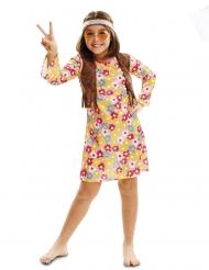 Florales Hippie-Kostüm für Mädchen Faschings-Verkleidung bunt