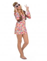 Sexy Hippie-Kostüm Faschings-Kostüm für Damen bunt