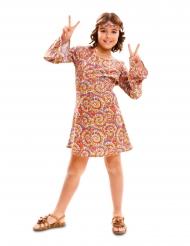 60er-Hippie-Kostüm für Mädchen psychedelisches-Muster bunt
