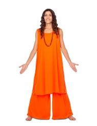 Guru-Kostüm für Damen religiöse-Verkleidung für Fasching orange