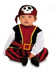 Piraten-Babykostüm für Fasching kleiner Seeräuber rot-schwarz-weiss
