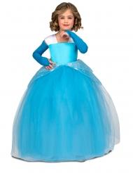 Prinzessinnen-Kostüm für Kinder Ballkleid blau