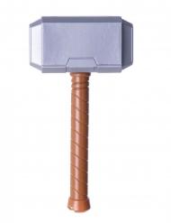 Hammer für Superhelden Kostüm-Accessoire grau-braun