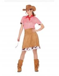 Wilder Westen Cowgirl-Kostüm für Damen Faschings-Verkleidung braun-rot