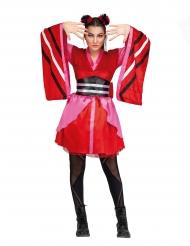 Japanisches-Kimono-Kostüm für Damen Faschings-Verkleidung rot
