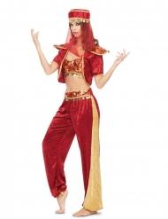 Hübsche Bauchtänzerin-Damenkostüm aus dem Orient rot-goldfarben
