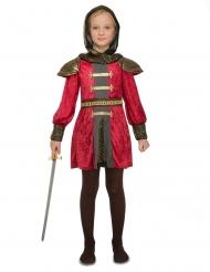 Tapferes Ritterkostüm für Kinder mittelalterliche-Verkleidung rot-gold