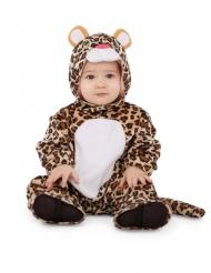 Leoparden-Babykostüm für Kleinkinder Faschings-Verkleidung braun-beige