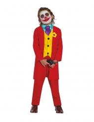 Clown-Kostüm für Jungen Zirkus-Kostüm Arthur rot-gelb