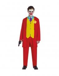 Verrückter-Clown Kostüm für Jugendliche Filmstar-Verkleidung rot-gelb