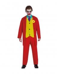 Verrücktes Clownkostüm Filmstar-Verkleidung für Herren rot-gelb