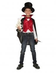 Magier-Kinderkostüm für Jungen Zauberer-Verkleidung rot-weiss-schwarz
