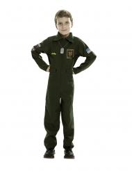 Piloten-Kostüm für Jungen Kinderkostüm für Fasching Uniform khakifarben