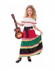 Mexikaner-Kostüm für Mädchen bunt