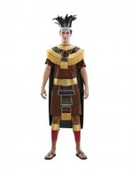 Azteken-Herrenkostüm für Fasching braun-goldfarben
