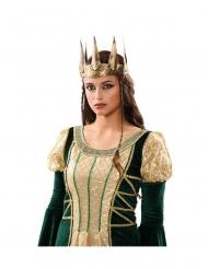 Mittelalterliche Königskrone Damen-Accessoire goldfarben