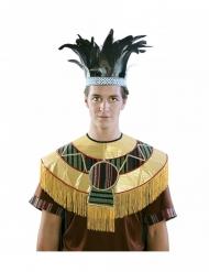 Azteken Feder-Kopfschmuck für Erwachsene blau-schwarz