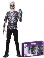 Skull-Trooper™-Kostüm Fortnite™ für Kinder und Jugendliche schwarz-weiß
