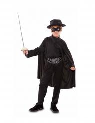 Maskierter-Rächer-Kostüm für Jungen schwarz