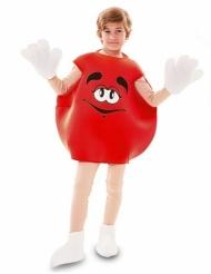 Lustiges Bonbon-Kostüm für Kinder Faschings-Verkleidung rot-weiss