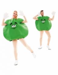 Süßigkeiten Bonbon-Kostüm für Erwachsene Humor grün