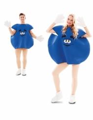 Bonbon-Kostüm Süßigkeiten-Verkleidung für Fasching blau