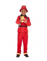 Feuerwehr-Kostüm für Jungen rot