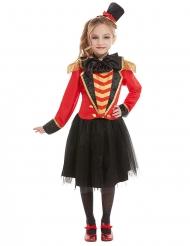 Zirkusdirektorin-Mädchenkostüm für Fasching Dompteurin rot-gold-schwarz