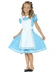 Alice-Kostüm für Mädchen blau-weiß