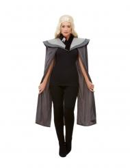 Mittelalterlicher-Umhang Kostüm-Zubehör für Drachenkönigin grau