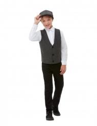 20er-Jahre-Kostüm-Set für Jungen 2-teilig für Fasching grau