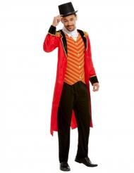Zirkusdompteur-Herrenkostüm für Fasching schwarz-rot